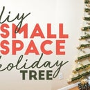 Small Space Holiday Tree