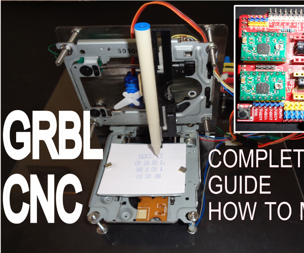 How to Make GRBL + CNC V3 Shield Based Mini CNC Machine From Scrap DVD Drive