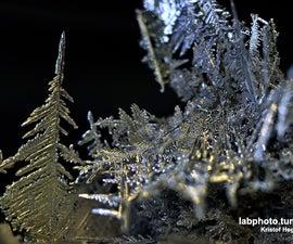 How to make some crystalline metallic silver easily