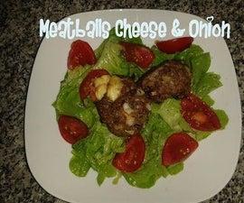 Meatballs Cheese & Onion Recipe