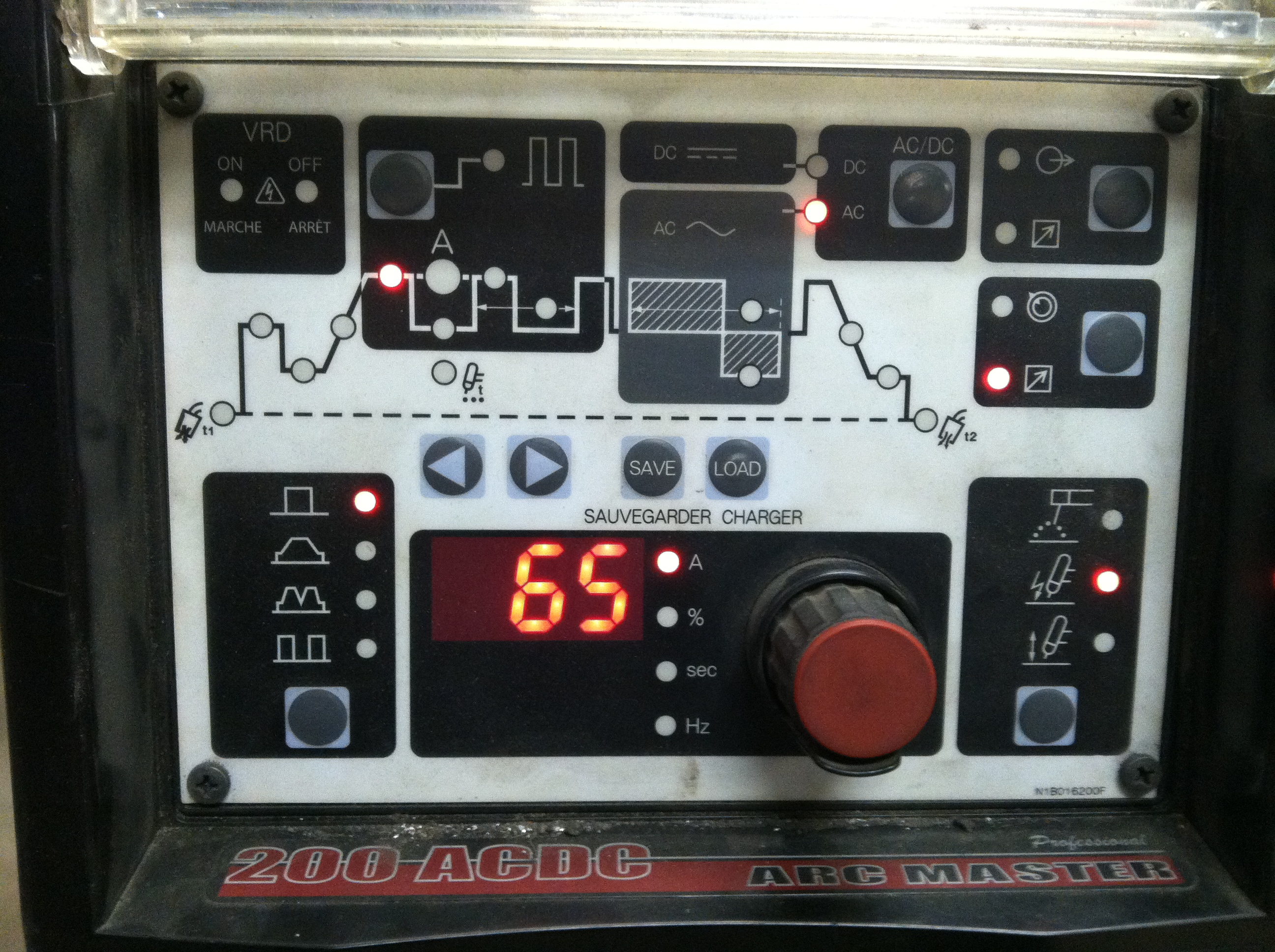 Picture of Machine Display Instructions