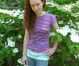 Shibori dyed t-shirt... using bleach!