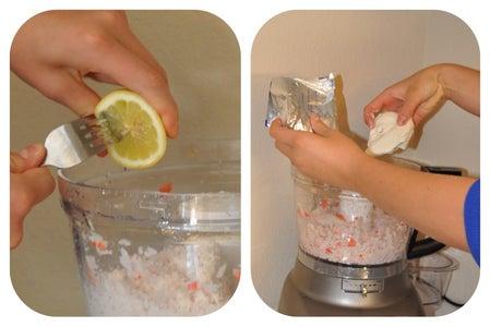 Adding the Lemon, Cream Cheese, and Sour Cream