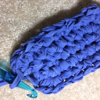 Picture of Start to Crochet Your Rug Using Your Fabric Stips