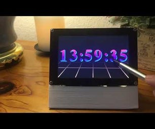 "80s Style Melting Digital ""Dali"" Clock"