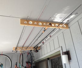 Fishing Pole Storage - Great for Apartment, Shed or Garage!