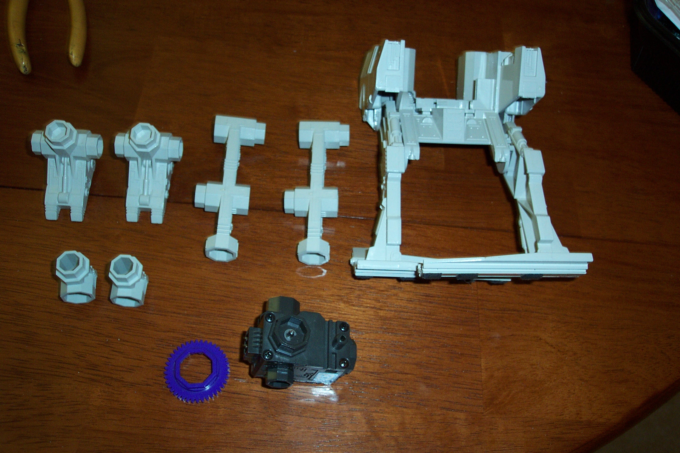 Picture of Building the Mini-Walking Bot. Here Are the Parts for Building the Bot