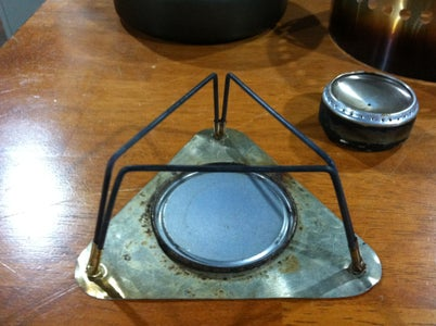 Alcohol Stove and Stand