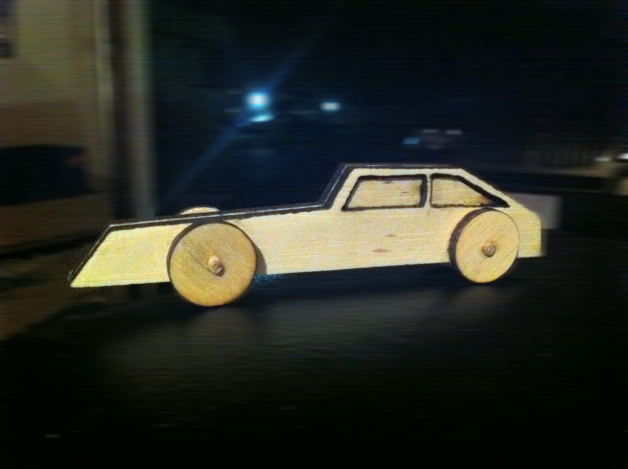 Picture of Easy Laser Cut Wooden Car Toy