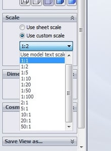 Add the Desired View, and Set Scale to 1:1