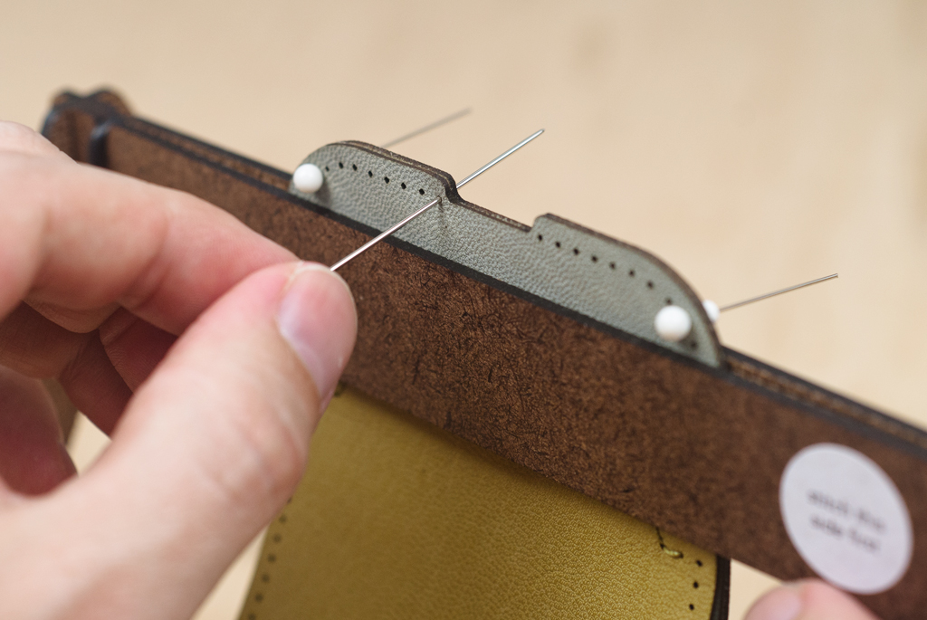 Picture of Saddle Stitching - Pulling the Thread Through