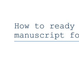 How to Submit a Story/manuscript for Publishing