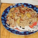 Hawiian Style Rice With Spam and Pineapple for $4