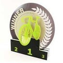 Laser Cut Acrylic Trophy: Cycling