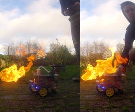 Flame Thrower Robot