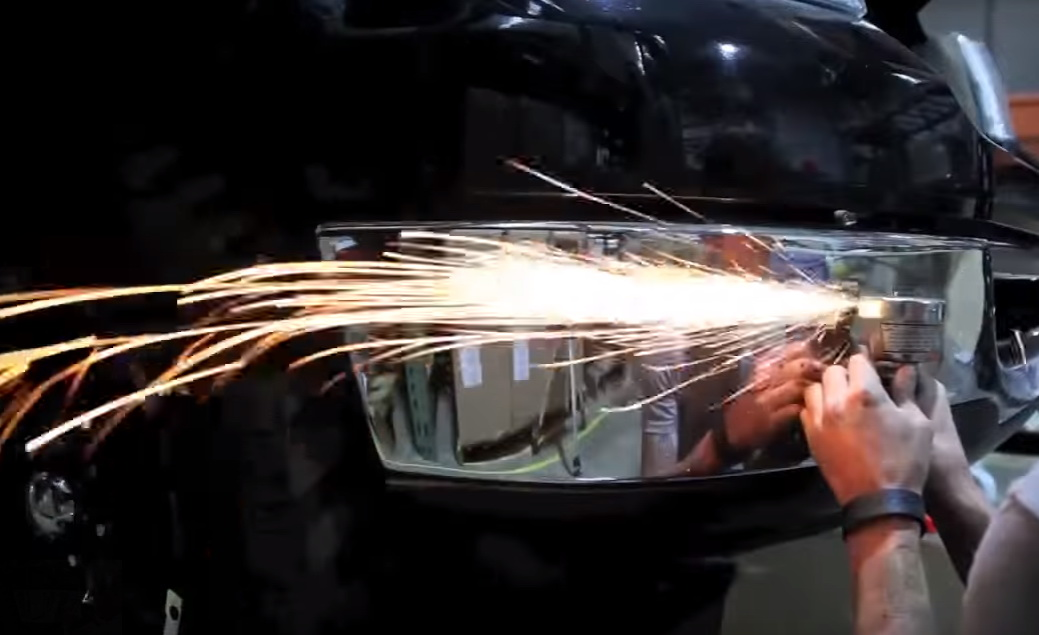 Picture of Cut Open the Gap Using an Angle Grinder.
