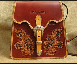 Antique style leather bag