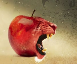 Toothy Apple   Photoshop  