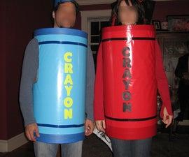 Make your own Crayon Halloween Costume