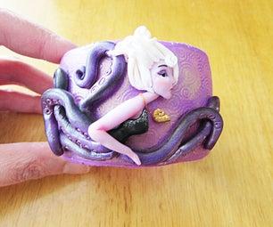 URSULA Little Mermaid Polymer Clay Cuff