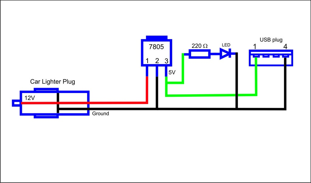 [DIAGRAM_38IU]  USB Car Charger : 7 Steps - Instructables | Car 12v Schematic Wiring |  | Instructables