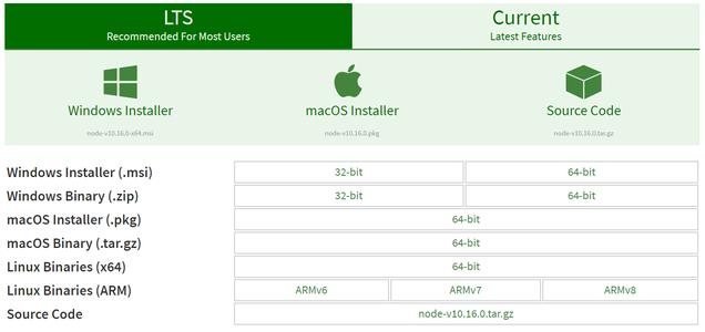 Download and Install NodeJS