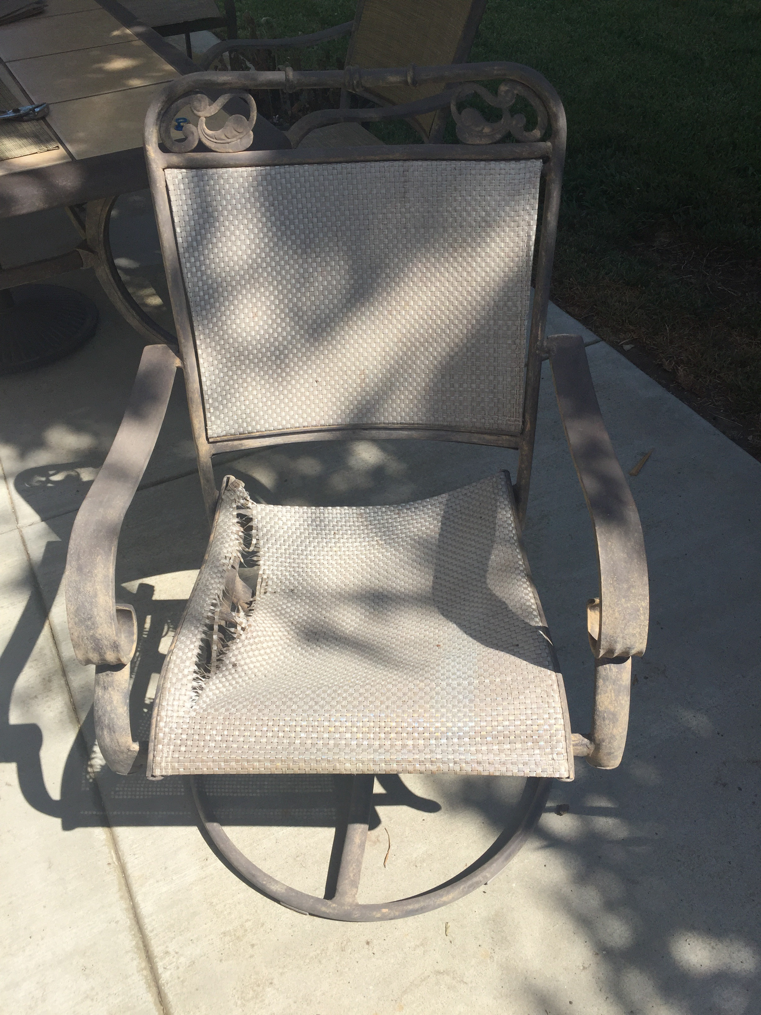 Picture of Sling Replacement on Chinese Sling Back Chairs