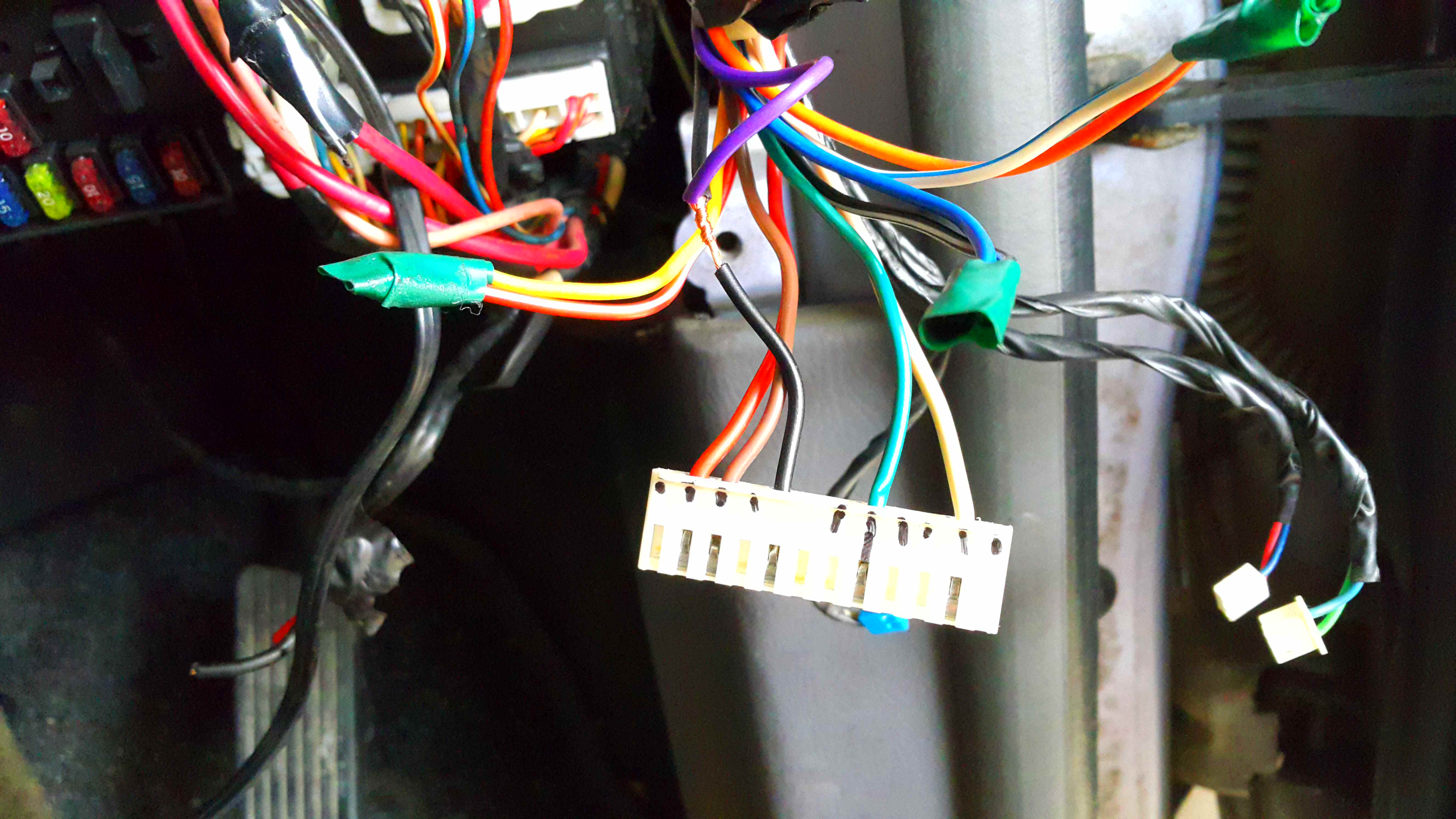 Picture of Finding the Kill Switch Wiring.