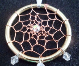 Wire Dream Catcher Pendant