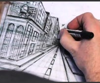 How to Draw a City in One Point Perspective