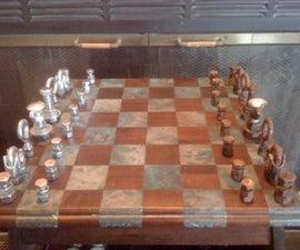 Steampunk-Inspired Hardware Chess Set