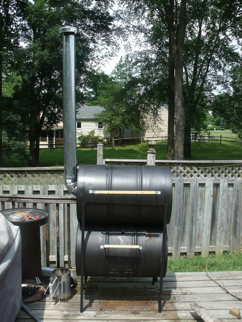 Picture of The No-Weld Double-Barrel Smoker (and How to Use It)