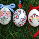 Faux Embroidered Eggs