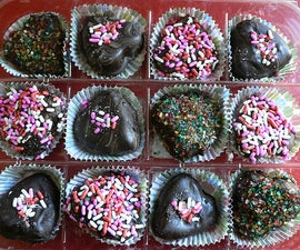 Chocolate Dipped Chocolate Hearts - and ways to fix and avoid chocolate problems.