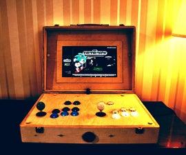 Plywood  Arcade Suitcase With Retropie