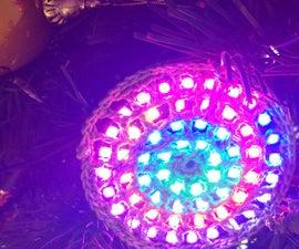 Circular RGB LED ornament