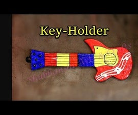 DIY Key Holder - Guitar