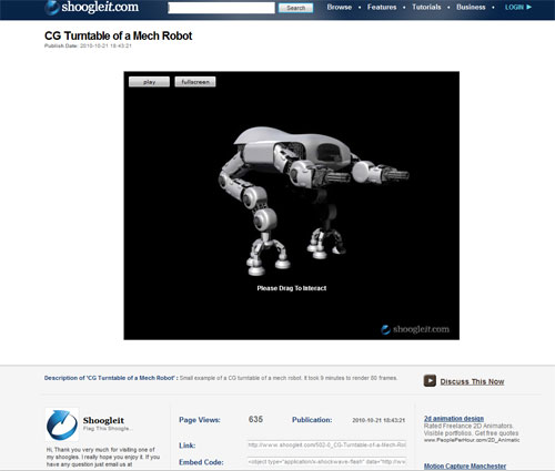 Picture of Turntables of Your Computer Generated Models