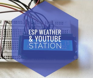 Simple Weather Station Using ESP8266.