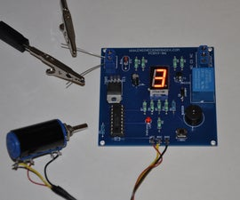 The electronic digital combination lock SAFE kit with variable resistor dial