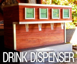 Electric Wooden Drink Dispenser