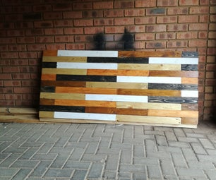 Reclaimed Pallet Wood Headboard