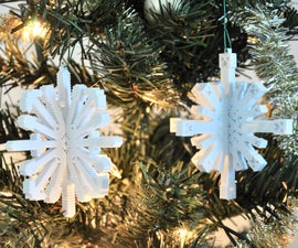 3D Printed Minecraft Snowflake Ornaments