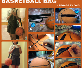 Making bag from old basketball