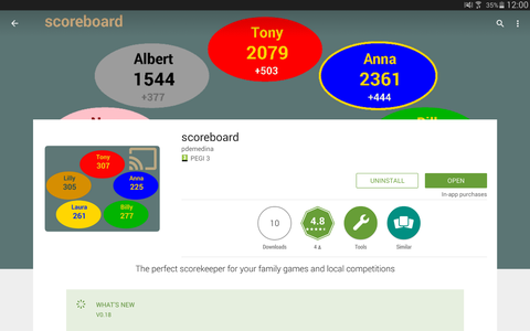 Download and Install the App Scoreboard From the Google Play Store