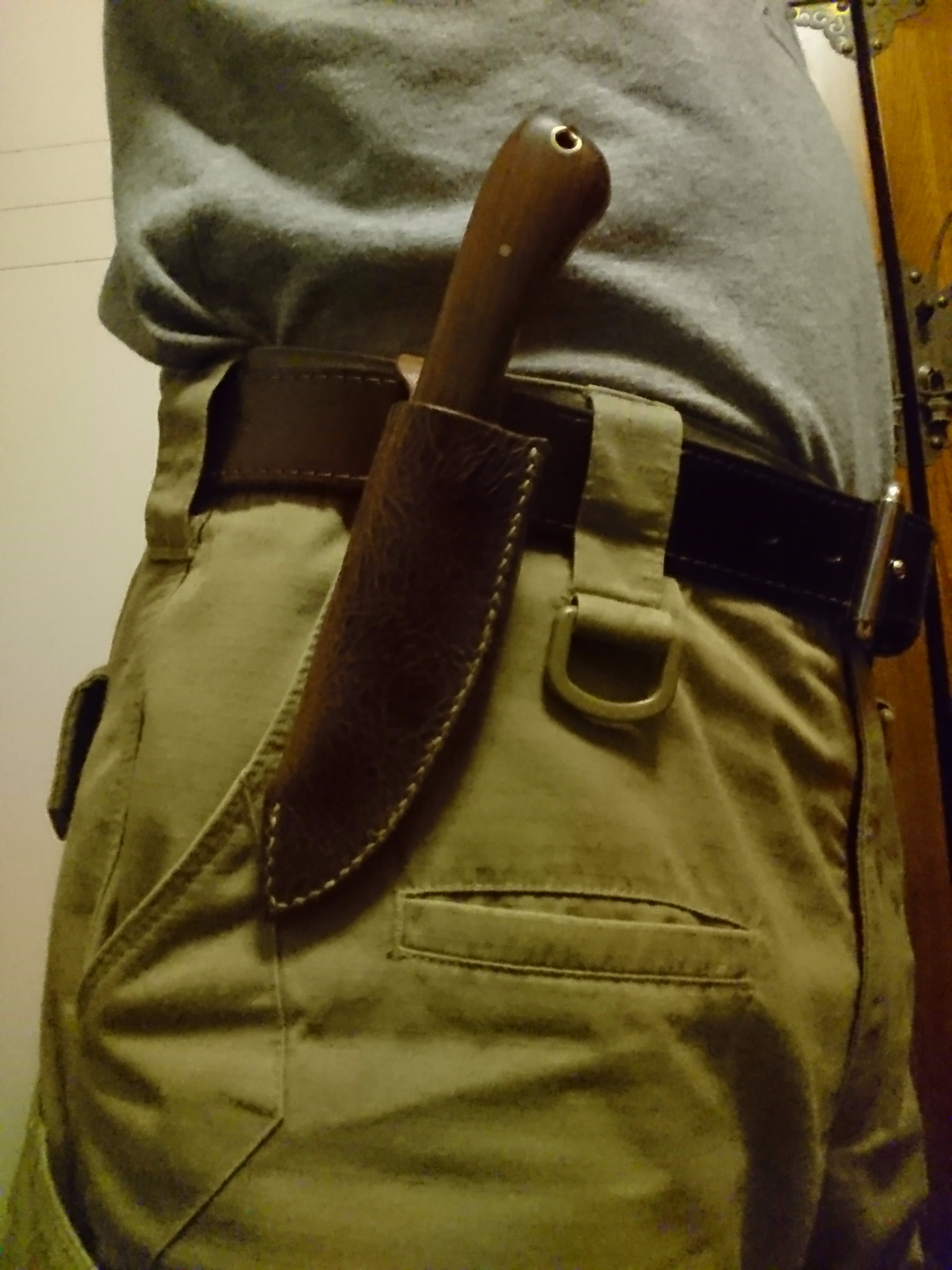 Picture of Vintage Saw Blade Knife With Leather Sheath