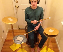 Life-Sized Electronic Drum Set from Duct Tape