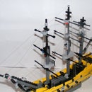 Lego HMS Victory With Rigging!
