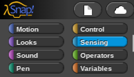 Picture of Sensors Are Run by the Blue Sensing Programming Blocks