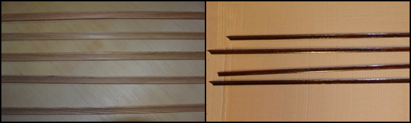 Picture of Cut Wood Board, Miter and Stain Molding